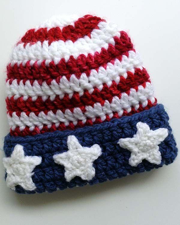 Patriotic Hat Free Crochet Pattern from Maggie\'s Crochet | Gorros ...