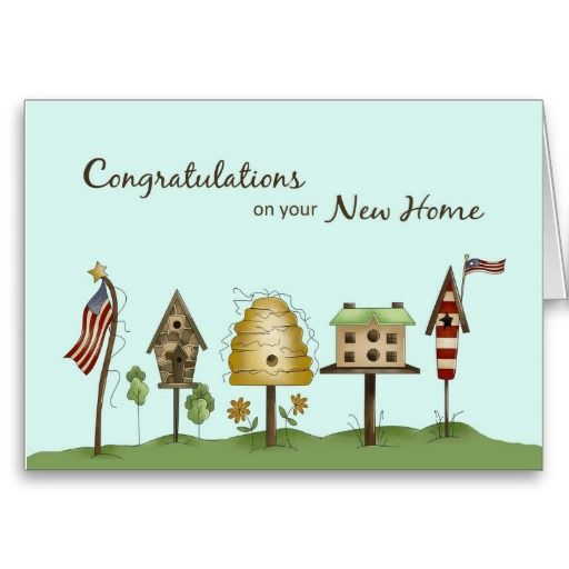 Congratulations On Your New Home Card Die Cuts Colors Phrasing