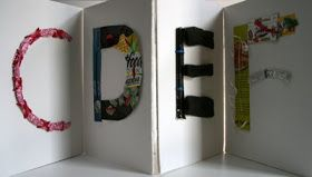Recycled Alphabet Accordion Book, kids would love to do their name this way!