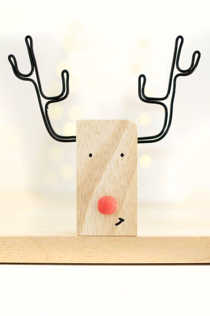 Photo of DIY Rentier aus Holz und Draht als Weihnachtsdeko