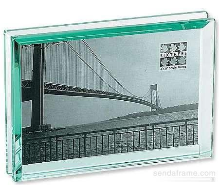 Emerald bevelled 7x5 glass block 39 floats 39 your photo for Glass block window frame