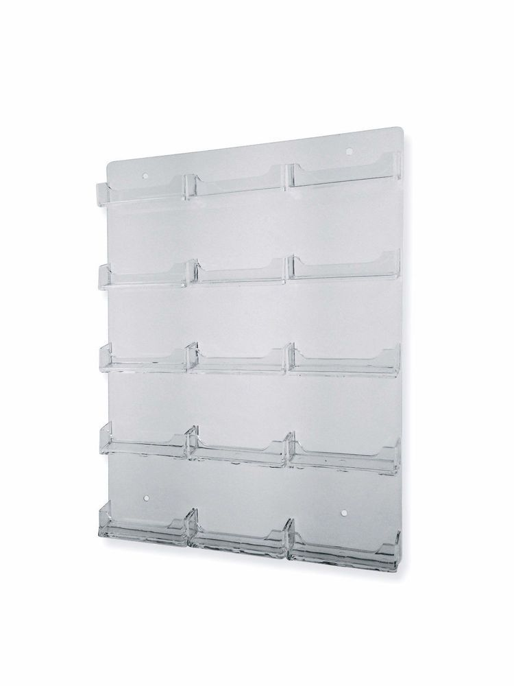15 Pocket Business Card Holder Wall Mount Clear Plastic Acrylic 16 X 12 Unbrandedgeneric Business Card Holder Display Business Card Holders Acrylic Holders