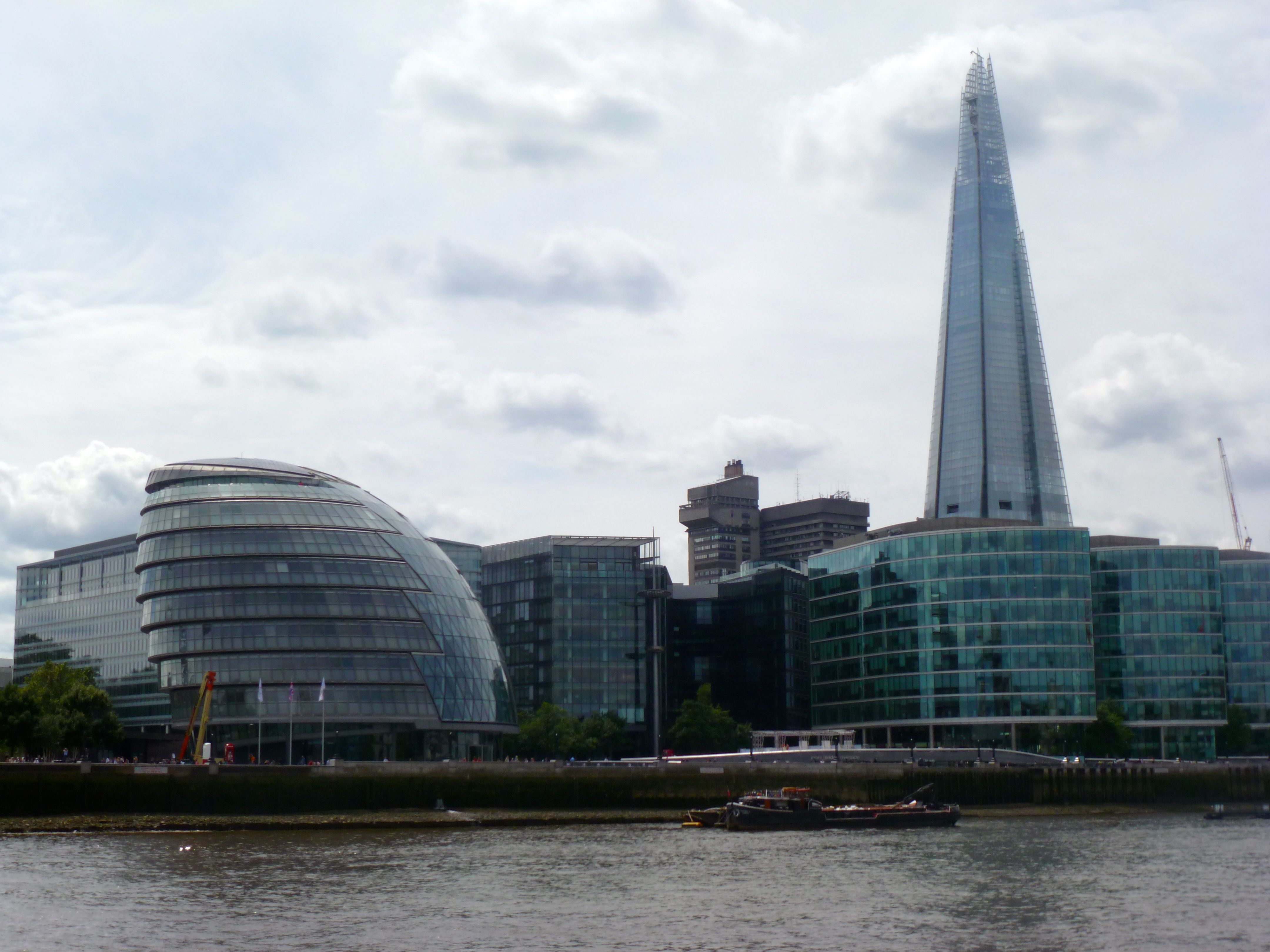 London waterfront with The Shard