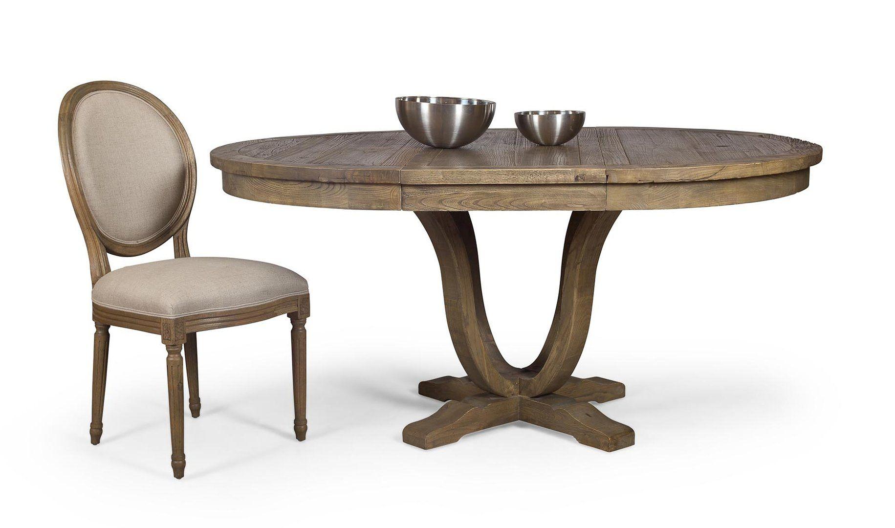 Mesa de comedor extensible provenzal koenigbourg deco - Salon mesa redonda ...