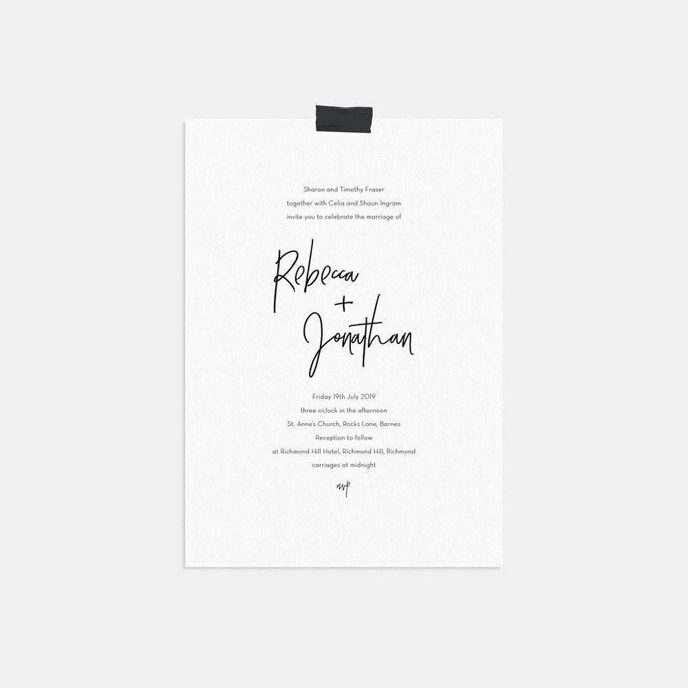 5 Unique example of a civil wedding invitation card - House Goals