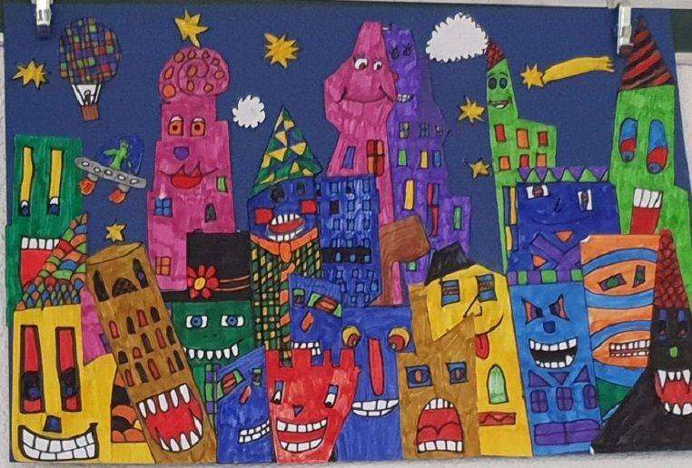 Photo of Stadt bei Nacht – James Rizzi im Kunstunterricht