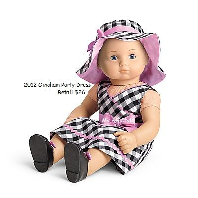 American Girl Doll Brand Bitty Baby Gingham Party Dress