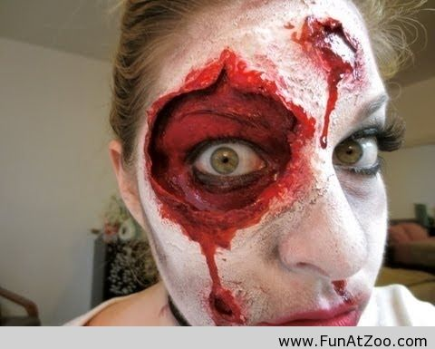 Horror Halloween Makeup - Funny Picture Halloween Pinterest - halloween horror costume ideas