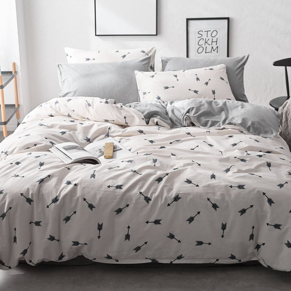 Arrows Printed Bedding Set Sheets Pillowcases King Size Bed Set