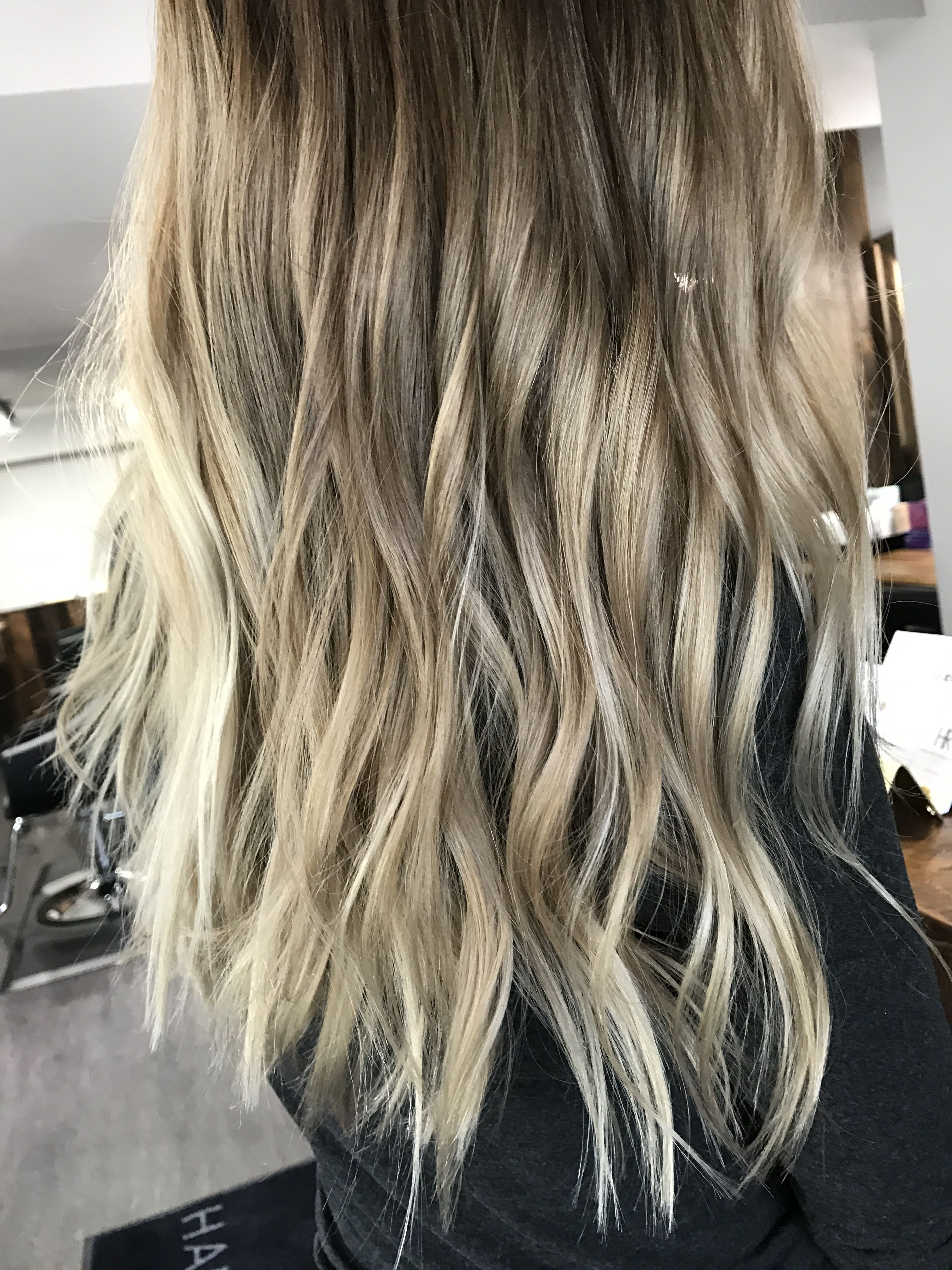 Cool Toned Summer Celebrity Inspired Balayage Sombre Ombre Hair