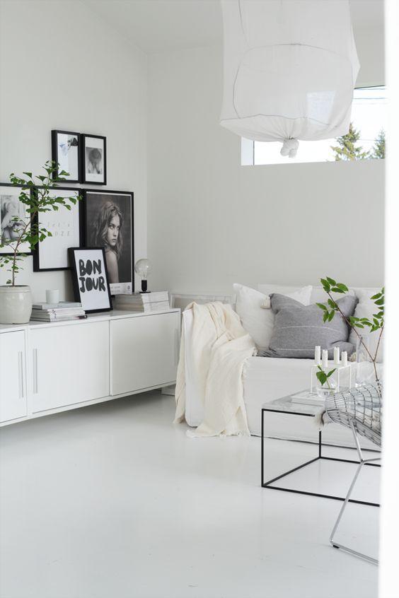 10x de mooiste (bijna) all white interieurs | Gallery wall, Living ...