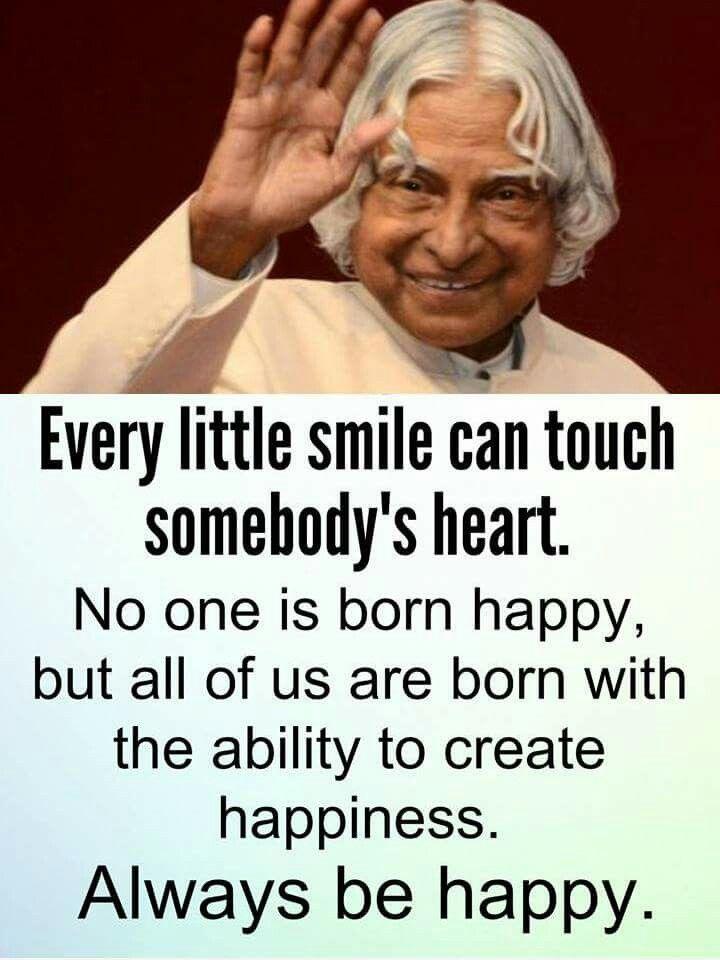 A P J Abdul Kalam by mihir roy Kalam quotes, Positive