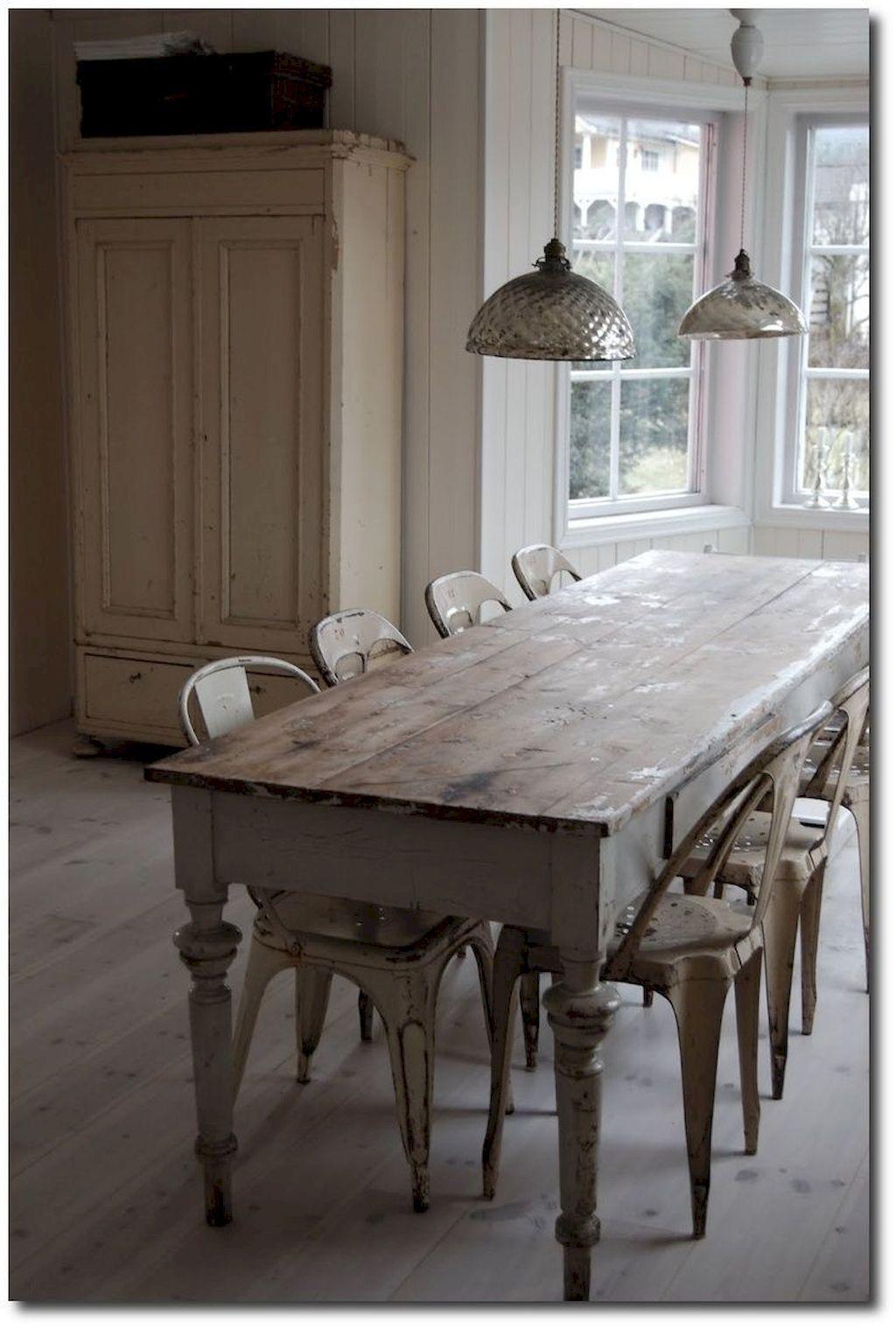 Cool 30+ Creative Farmhouse Table Design Ideas With Rustic