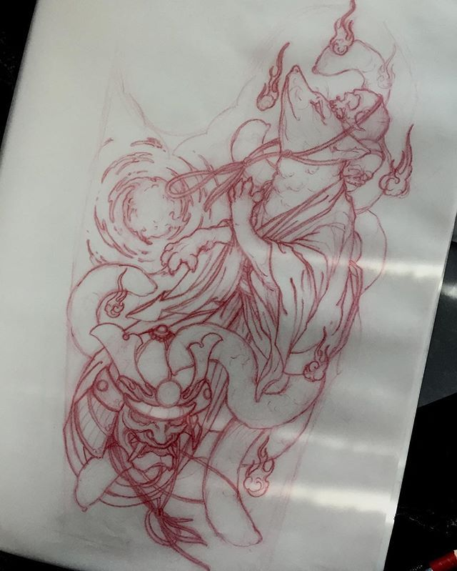 Sketch For A Japanese Sleeve: Instagram Media By Akostattoo