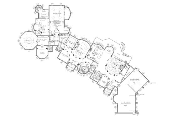 25 000 Square Foot Mansion W Floorplans Mansion Floor Plan Floor Plans Rock Climbing Wall