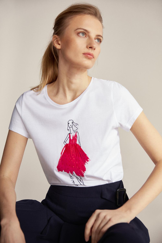 Camiseta Muñeca Lentejuelas Camisetas Cortefiel Moda Tendencias De Moda Ropa De Mujer