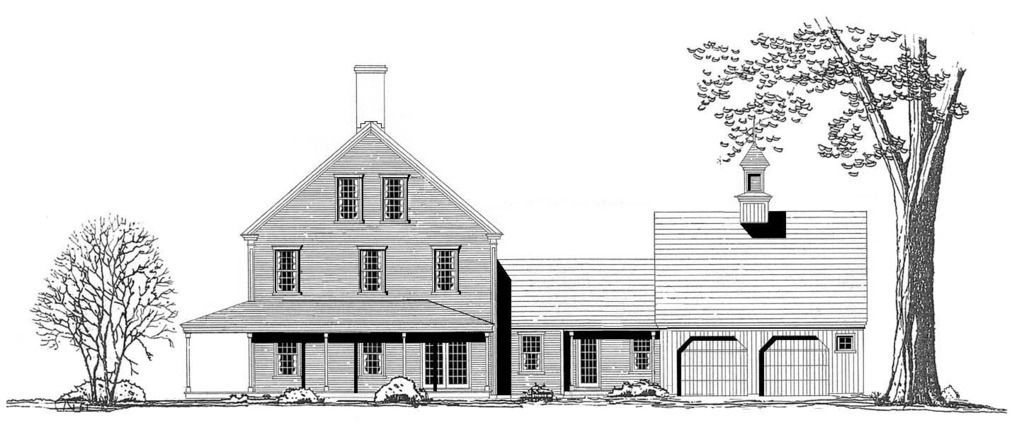 Plan 5303 New england farmhouse