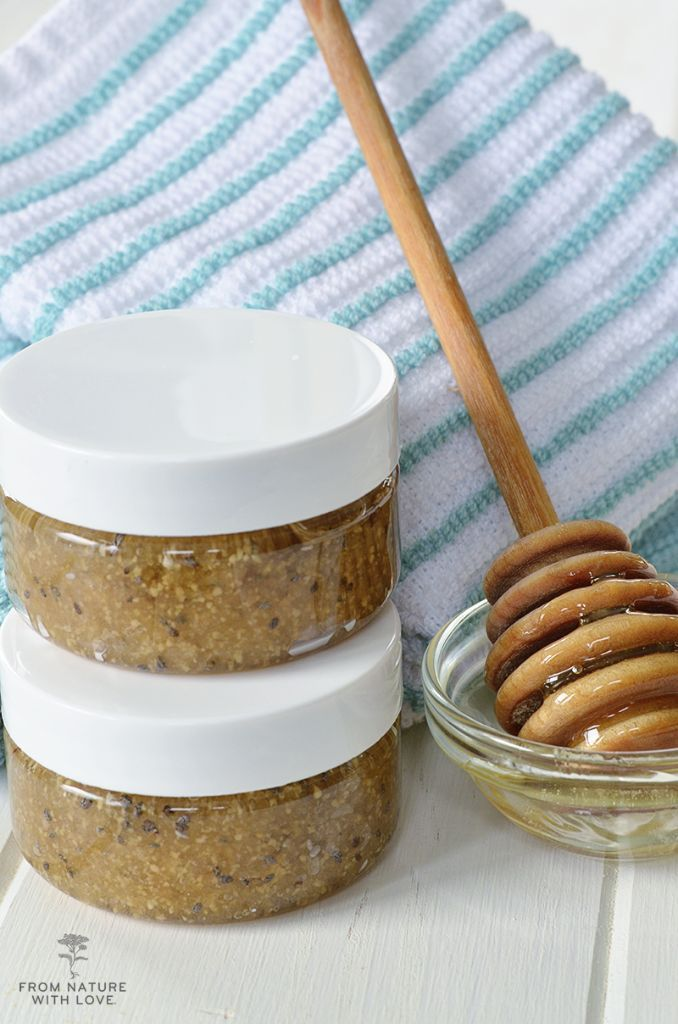 This DIY Honey Chia Sugar Scrub is an easy body scrub recipe made with nourishin...    This DIY