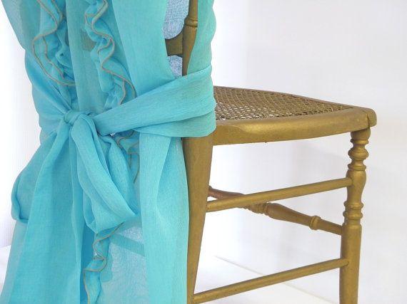Enjoyable Wedding Chair Cover Sky Blue Decoration By Interior Design Ideas Clesiryabchikinfo