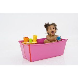 Flexi Travel Folding Baby Bath Tub. Ordered it today!!  Our apartment in Peru only has showers :(
