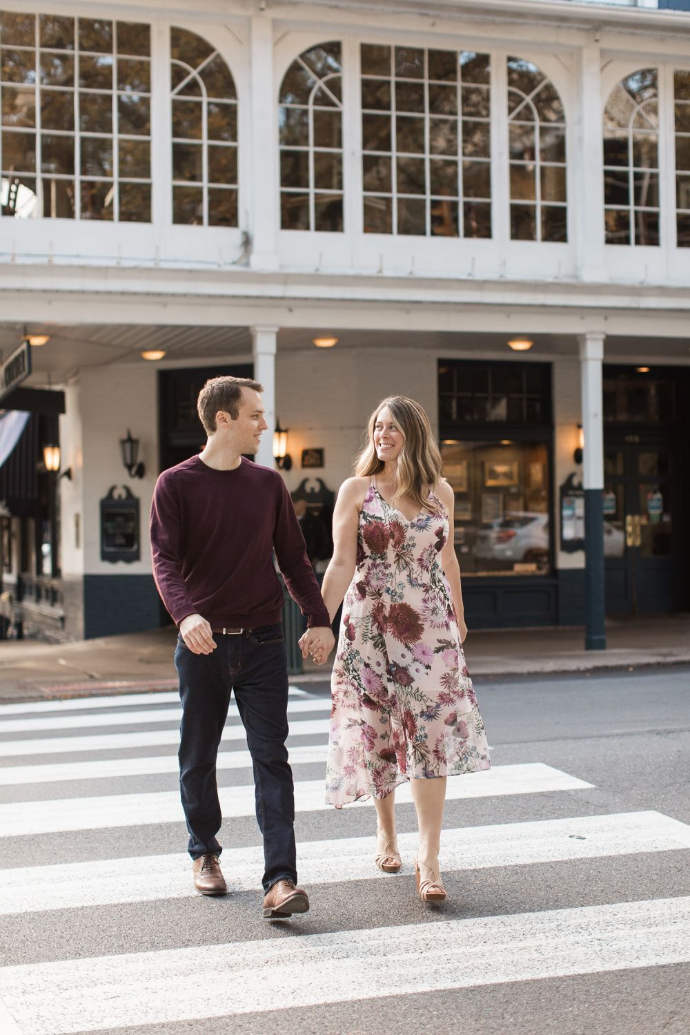 State College, PA Engagement Photographer | Downtown State College Engagement Session | Jen and Mike
