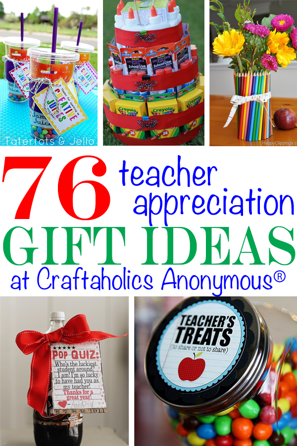 50 gift ideas to say thank you to your teachers! Creative and easy. Lot\u0027s  of free printables. www.skiptomylou.org