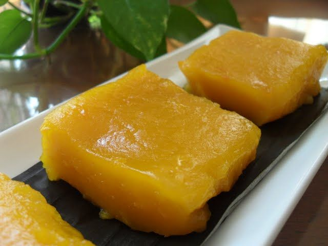 olahan resepi kek labu kuning bakar foody bloggers Resepi Kek Span Pandan Gebu Enak dan Mudah