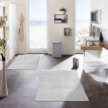Badmat WIEN grijs-wit ECO-Living Kleine Wolke 60cmx90cm - badezimmermatten kleine wolke
