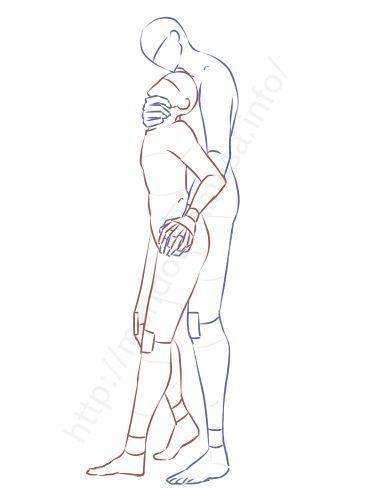 【BLイラストポーズ集】キスを迫るポーズ※9種※ | 面倒く..... -  - #ZeichnungenPaar #posereference