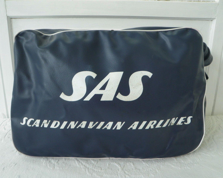 Vintage Sas Scandinavian Airlines Flight Carry On Travel Bag Tote Luggage Travel Duffel Vinyl By Trasheewomen On Etsy Scandinavian Scandinavianairlines Sas