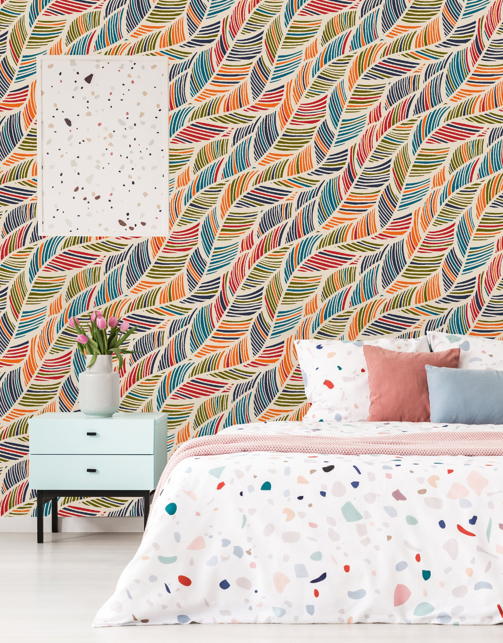 Removable Wallpaper Self Adhesive Wallpaper Vintage Colorful Etsy In 2020 Removable Wallpaper Wallpapers Vintage Peel And Stick Wallpaper