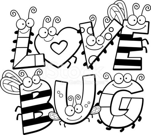 Cartoon Love Bug Text With Images Cartoons Love Bugs Drawing
