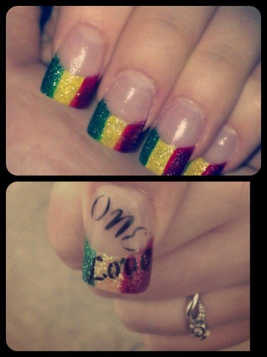 Rasta Nails Design : rasta, nails, design, Liebmann, Nails, Rasta, Nails,, Marley