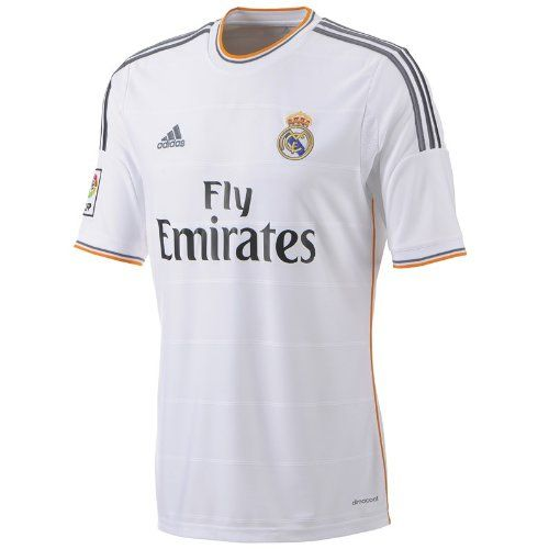 Adidas Real Madrid 2013 14 Official Home Soccer Jersey L Adidas Http Www Amazon Com Dp B00epp4 Real Madrid Real Madrid Shirt Real Madrid Football