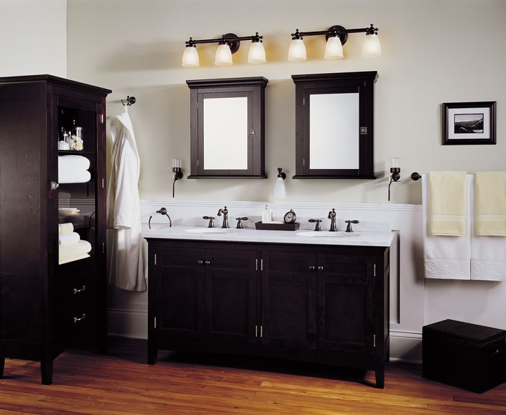 Black And White Contemporary Bathroom Vanity Light Fixtures Ideas With Hardwood Floors Also Oak Cabinets Lighting Double