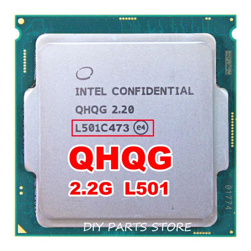 엔지니어 샘플 버전 i7 프로세서 cpu QHQG 같은 ES 2.2 터보 주파수 2.6