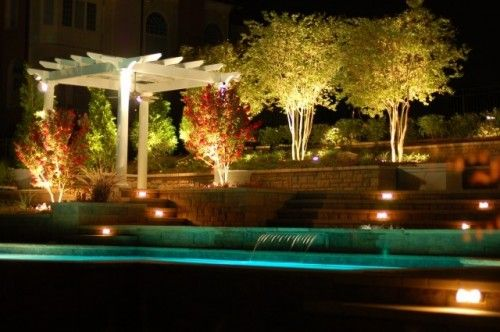 lighted trees WATER Pools/Water fountains/Koi Ponds/Aquariums