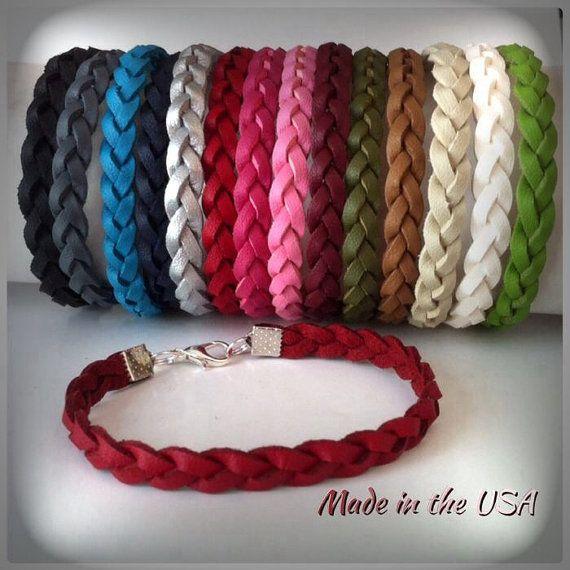 Leather bracelet Braided leather bracelet Friendship bracelet ...