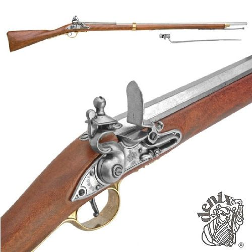 Denix Colonial Brown Bess Replica Musket With Bayonet 60