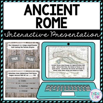 Ancient Rome Interactive Google Slides™ Presentation