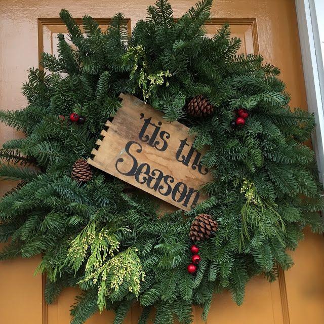 a Vintage Green 2017 Review cricut Pinterest Wreaths, Vintage - christmas wreath decorations