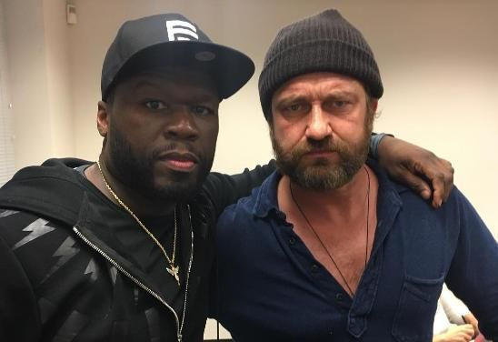 Paisley attore Gerard Butler propone con 50 Cent per il film bootcamp