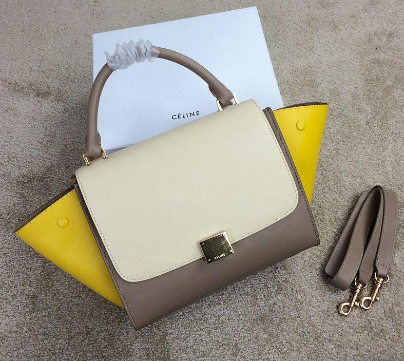 3eada56663d2 Celine Colorblock Trapeze Bag