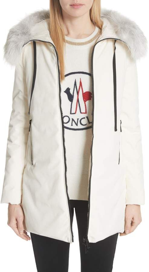 a91071063 Moncler Bartramifur Hooded Down Coat with Removable Genuine Fox Fur ...