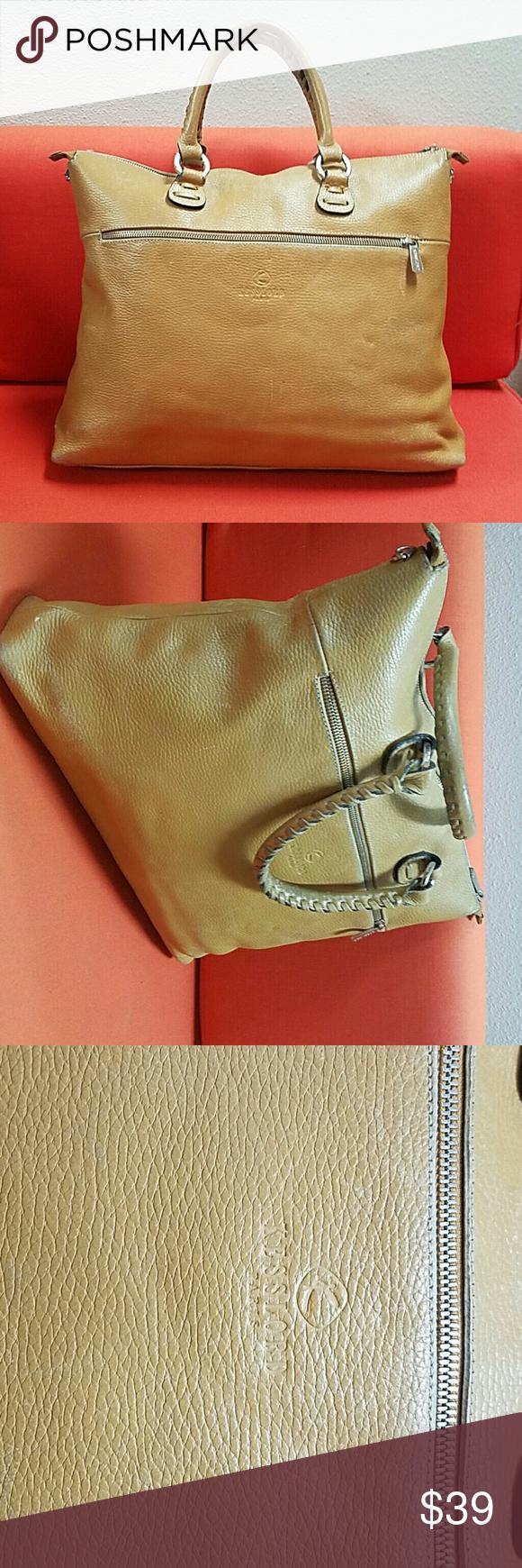 Kesslord Paris France Pebbled Leather Handbag Vtg Made In Large Deluxe Top Handle Bag
