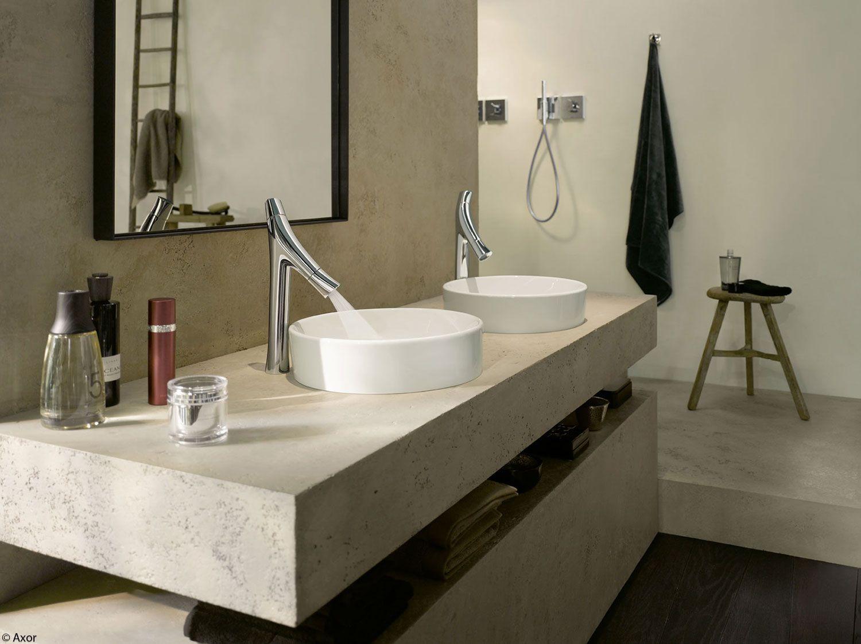 Info over badkamers dubbele wastafel bijzondere badkamerkraan axor