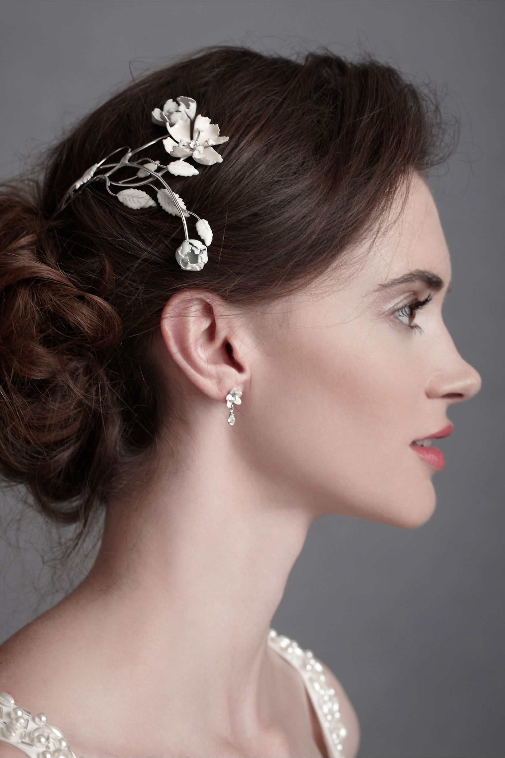Austrian briar headpiece in shop sale at bhldn bridal hairstyle