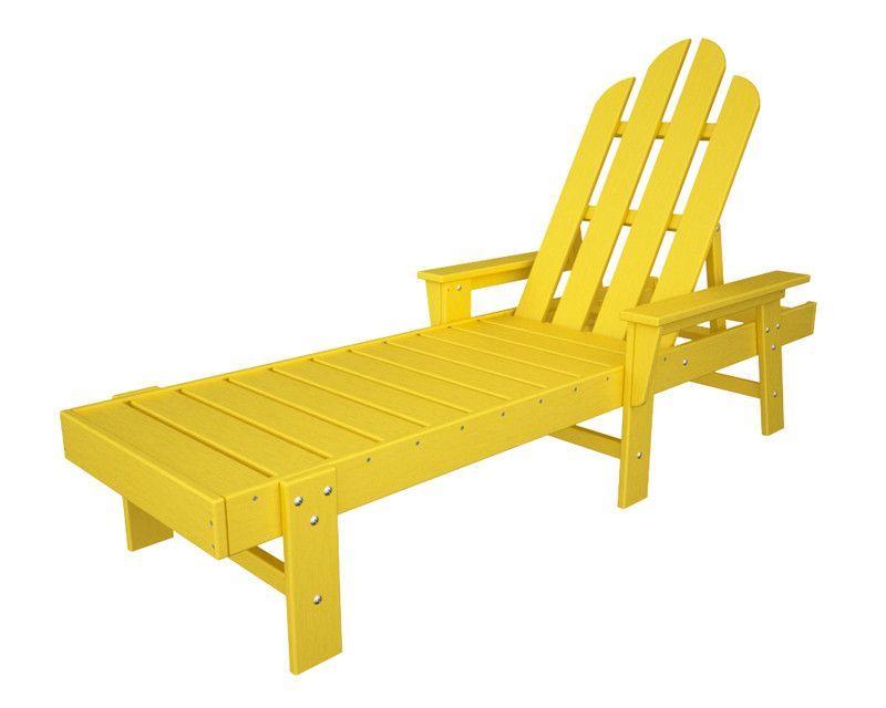 Polywood Ecc76le Long Island Chaise In Lemon Outdoor