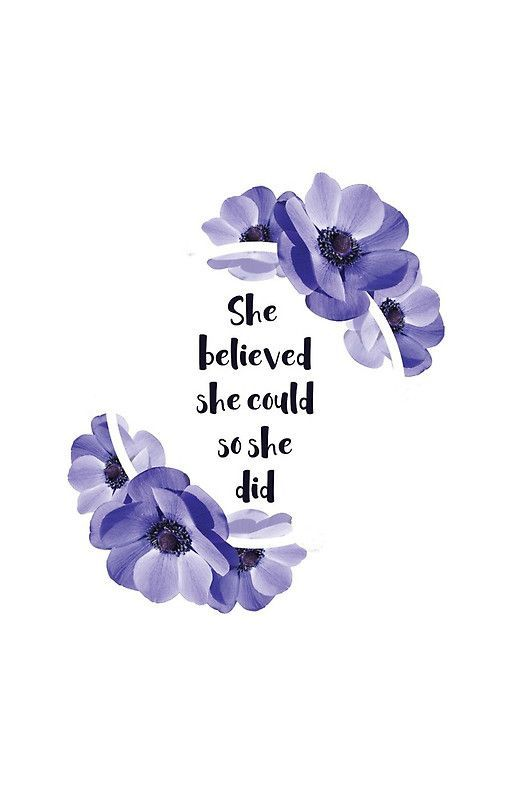 She believed she could, so she did - Girly Inspirational Quote iPhone Case