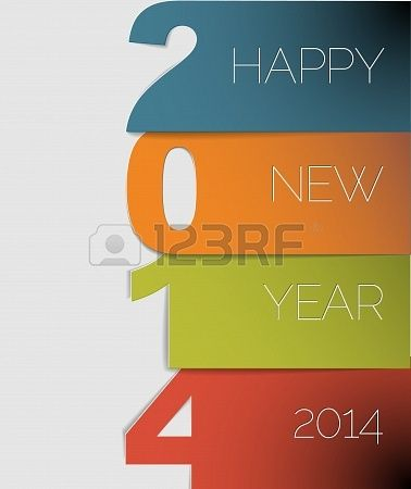 happy new year 2014 creative card design